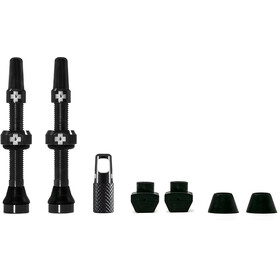Muc-Off MTB & Road Tubeless Valve Kit 60 mm, black
